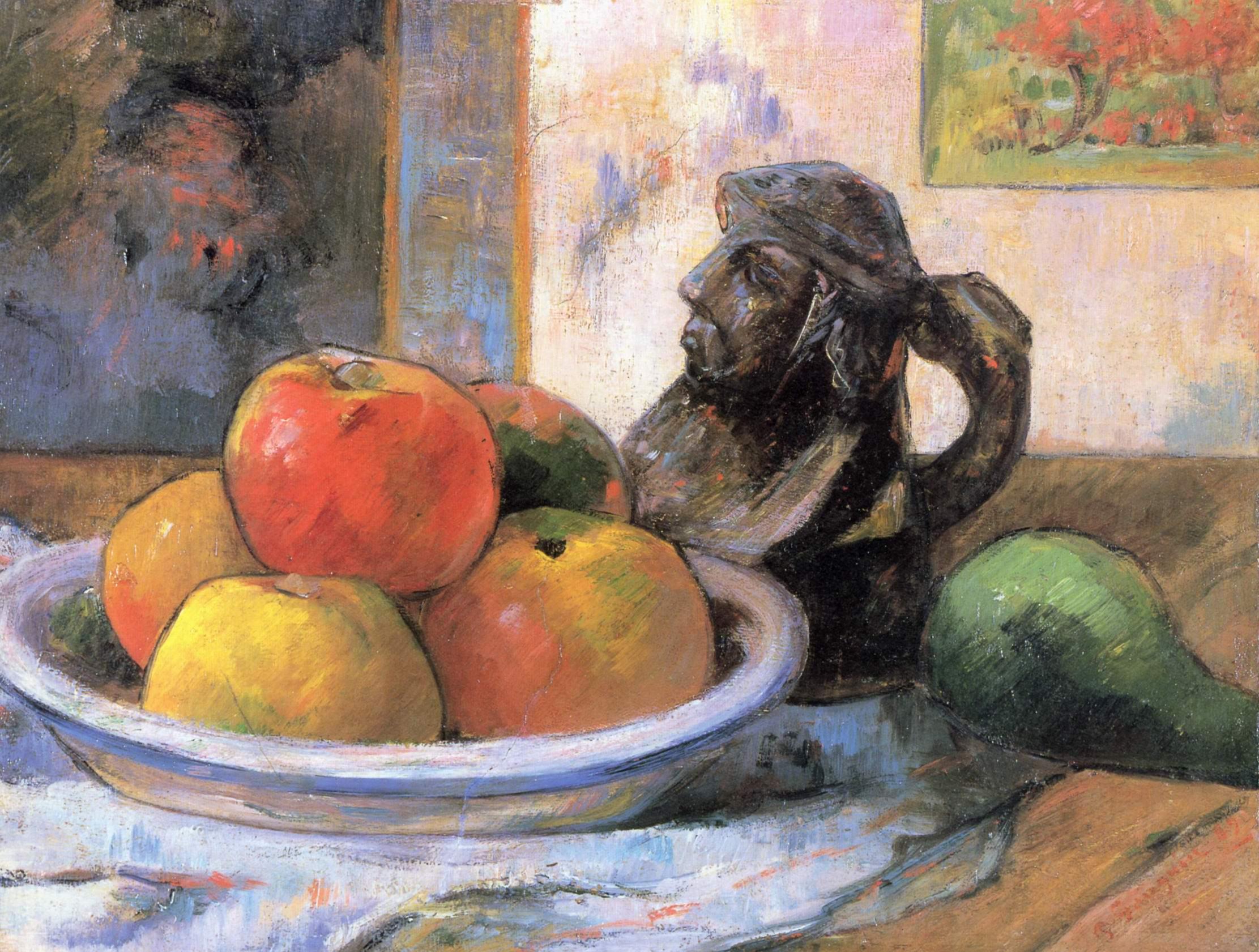 Натюрморт с яблоками, грушей и кувшином, Поль Гоген