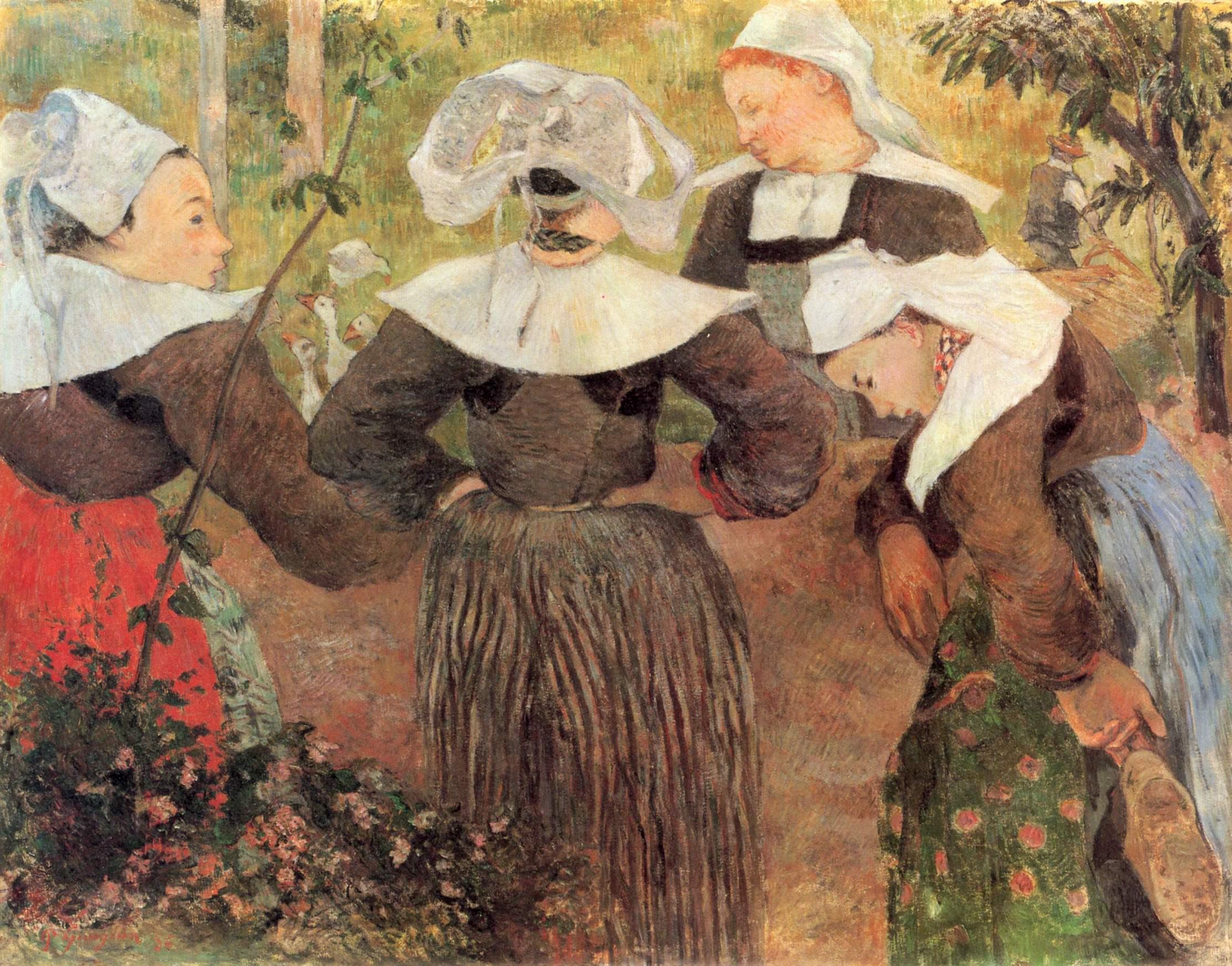 Четыре танцующие бретонки, Поль Гоген