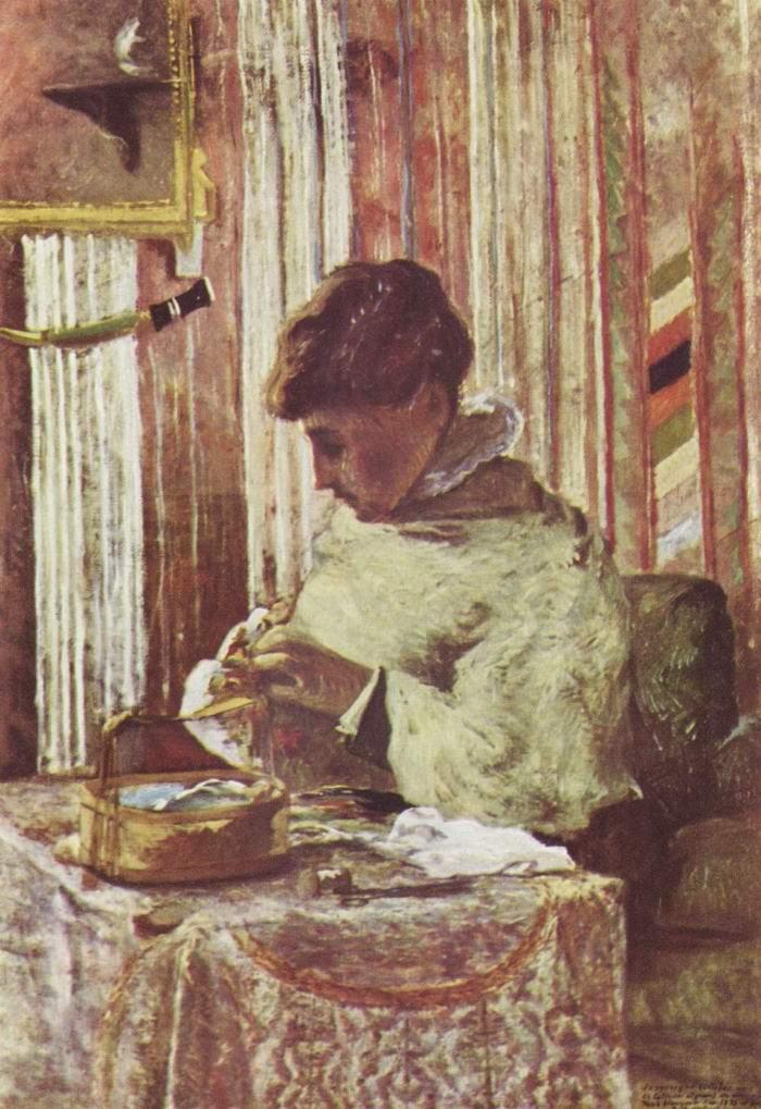 Портрет мадам Гоген, Поль Гоген
