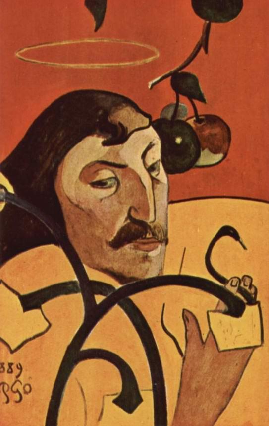 Символистский автопортрет с нимбом, Поль Гоген