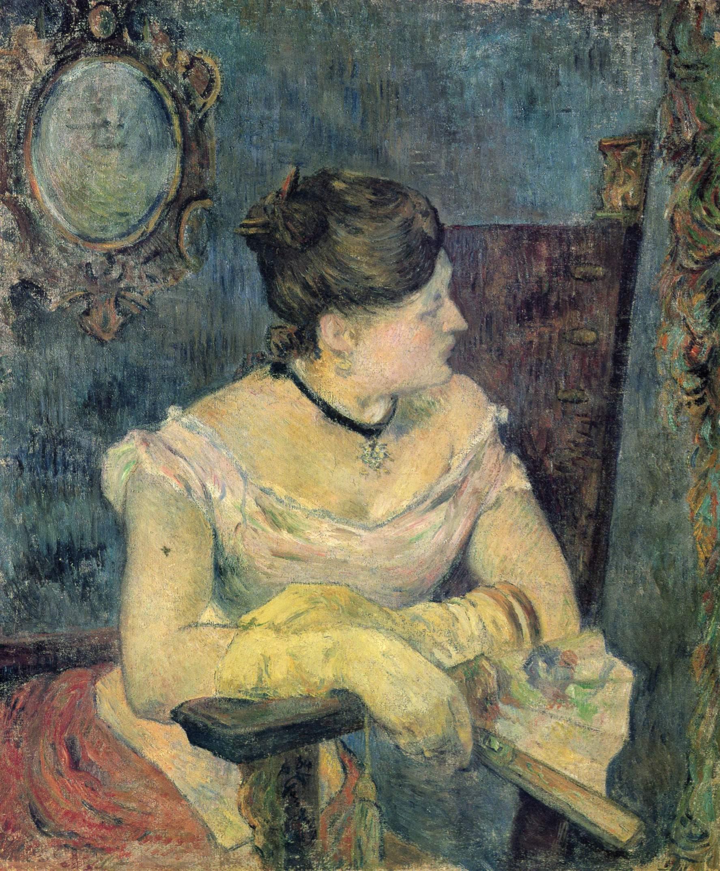 Портрет мадам Гоген в вечернем платье, Поль Гоген
