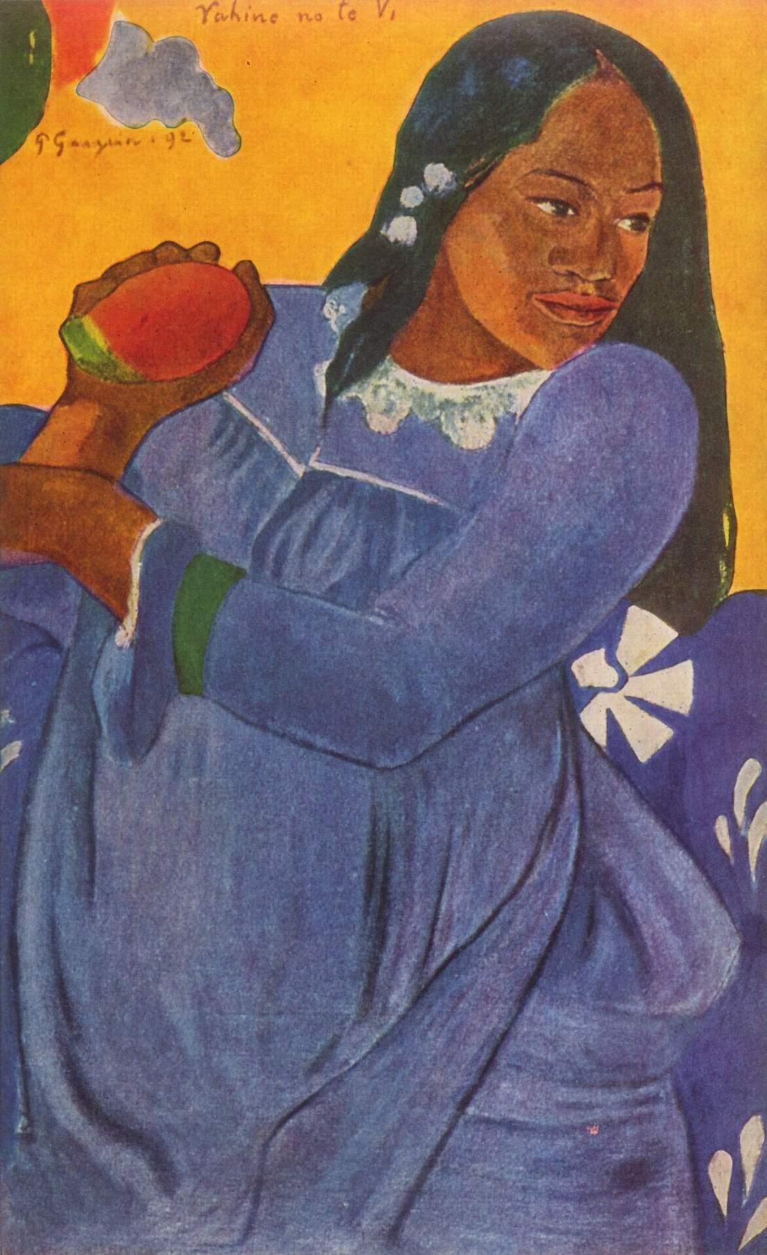 Таитянка с плодами манго, Поль Гоген