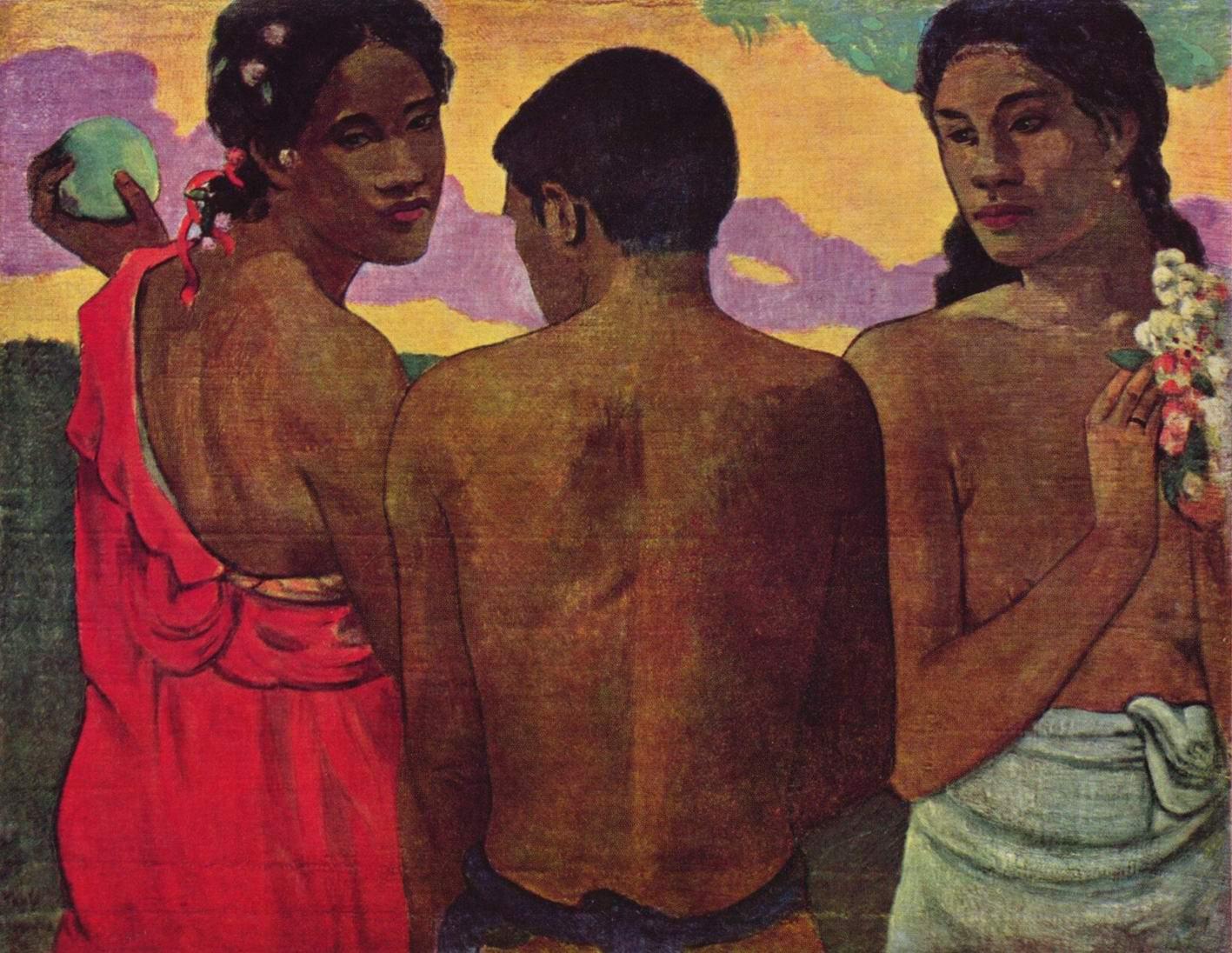 Разговор на Таити, Поль Гоген