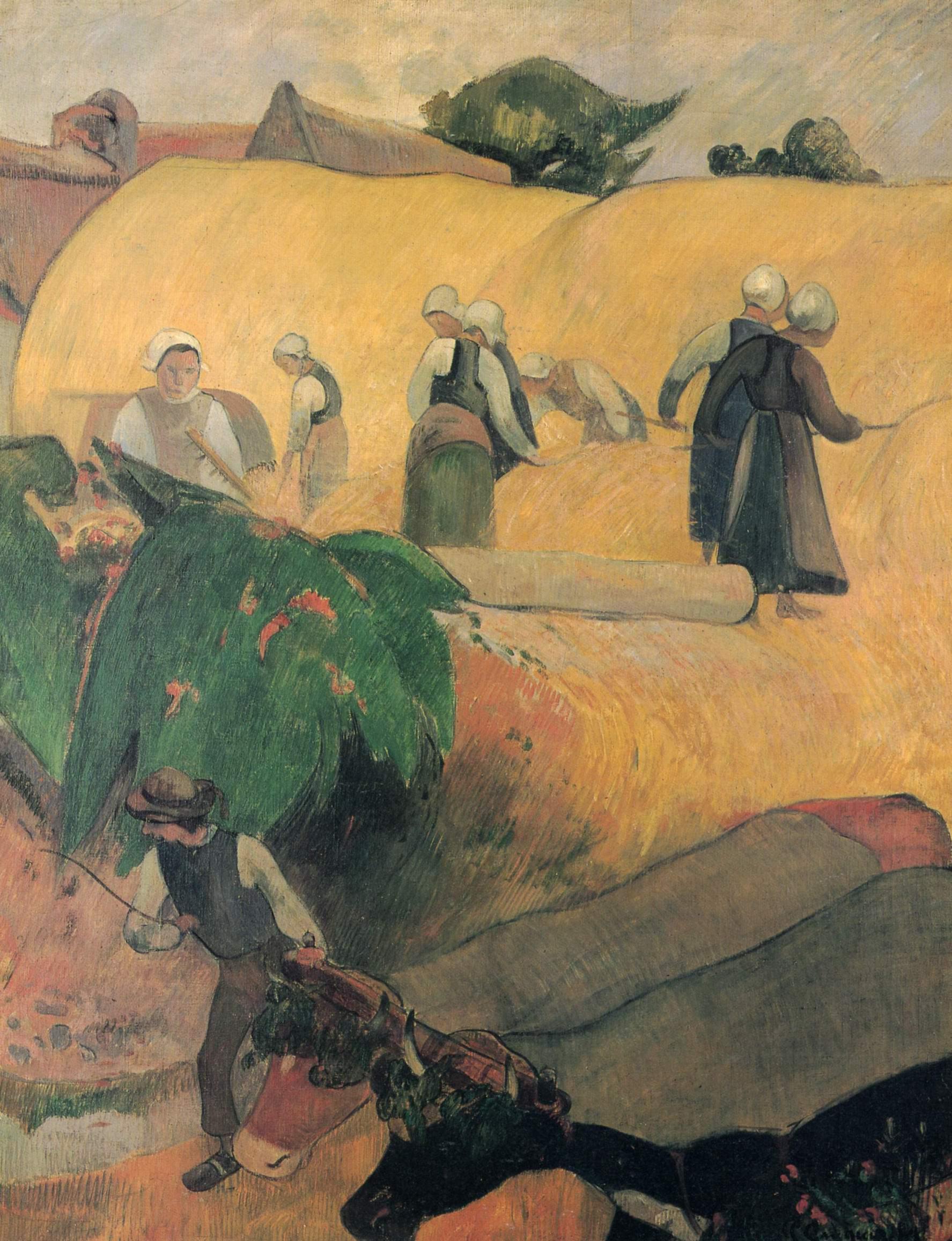 Сбор урожая в Бретани, Поль Гоген