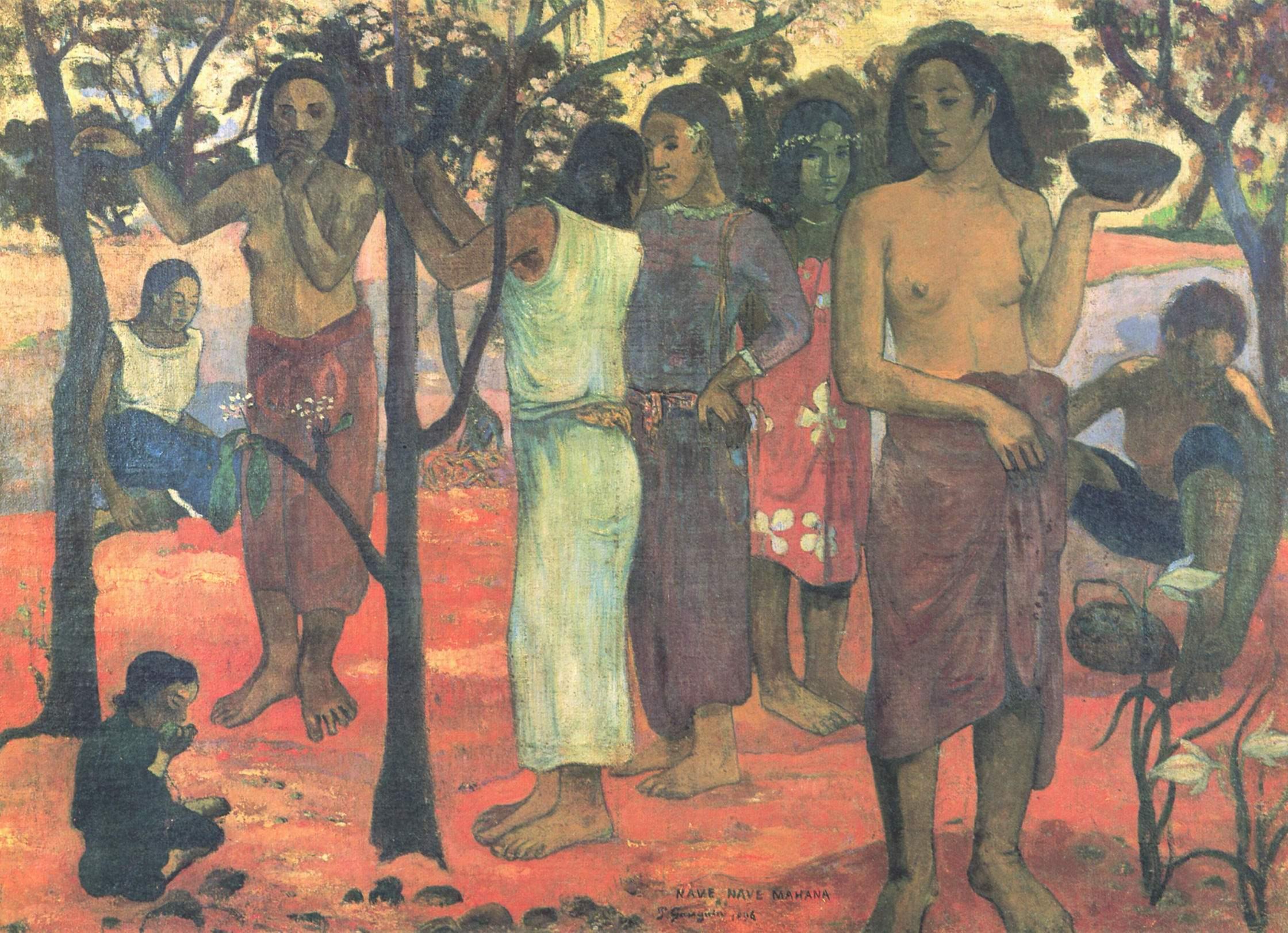 Чудесные дни (Nave nave mahana), Поль Гоген