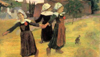 Танцующие бретонские девочки