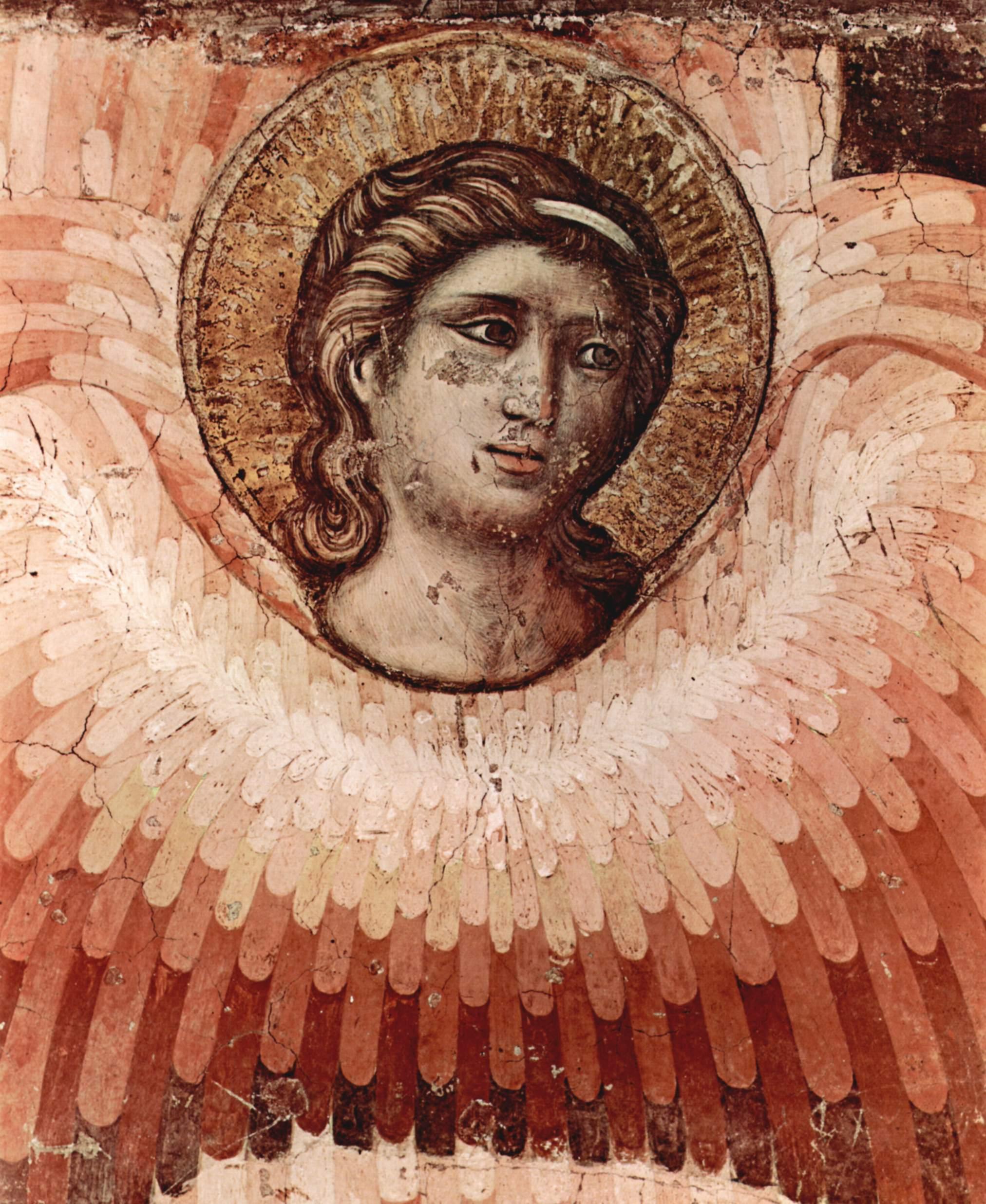 Цикл фресок Страшного суда в Санта Сесилия в Трастевере в Риме, Страшный суд. Деталь  ангел, Пьетро Каваллини
