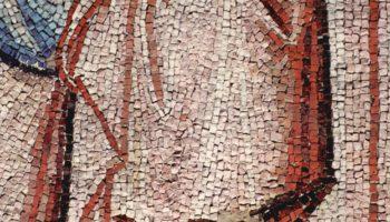Цикл мозаик с шестью сценами из жизни Марии в церкви Санта Мария в Трастевере в Риме, Сретение. Дета