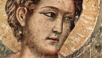 Цикл фресок Страшного суда в Санта Сесилия в Трастевере в Риме, Страшный суд. Деталь  апостол