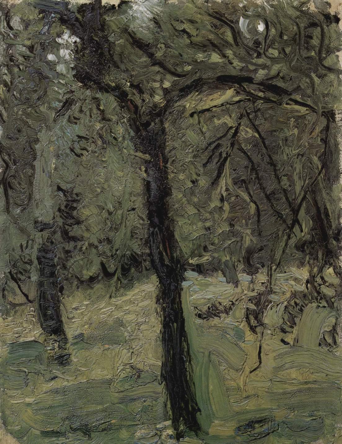 Солнечный луг с плодовыми деревьями, Рихард Герстль
