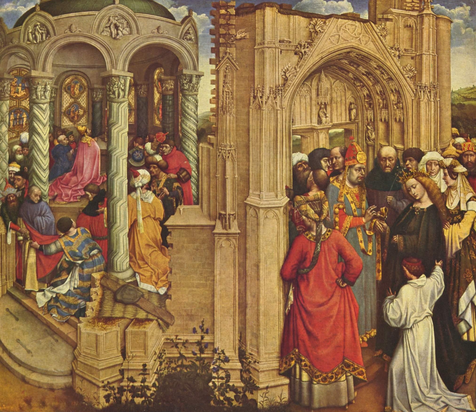 Алтарь чуда о процветшем посохе и обручении Марии, Робер Кампен