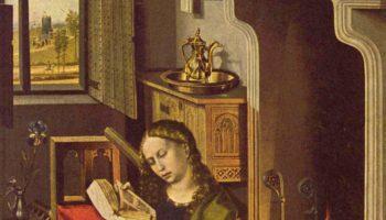 Триптих Верля, правая створка  св. Варвара