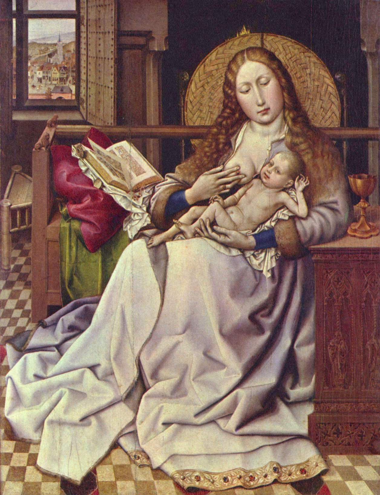 Мадонна с младенцем, Робер Кампен
