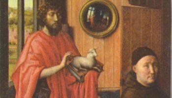 Триптих Верля, левая створка  Иоанн Креститель и донатор Генрих фон Верль