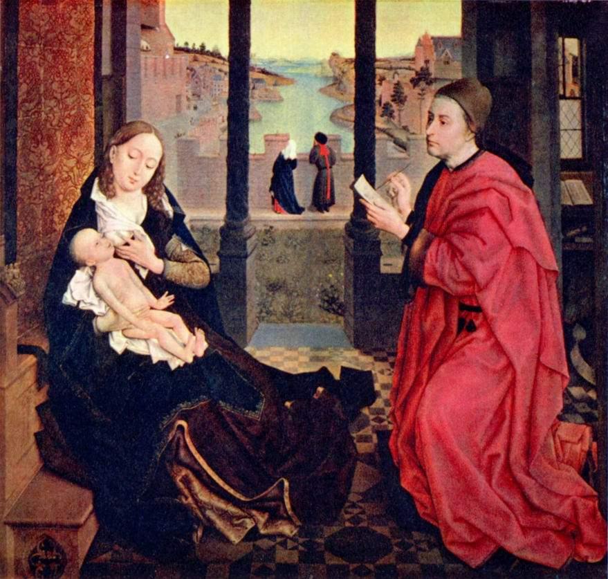 Евангелист Лука пишет образ Марии, Рогир ван дер Вейден