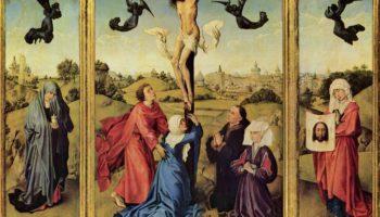 Триптих Распятия, левая створка  Мария Магдалина, правая створка  св. Вероника