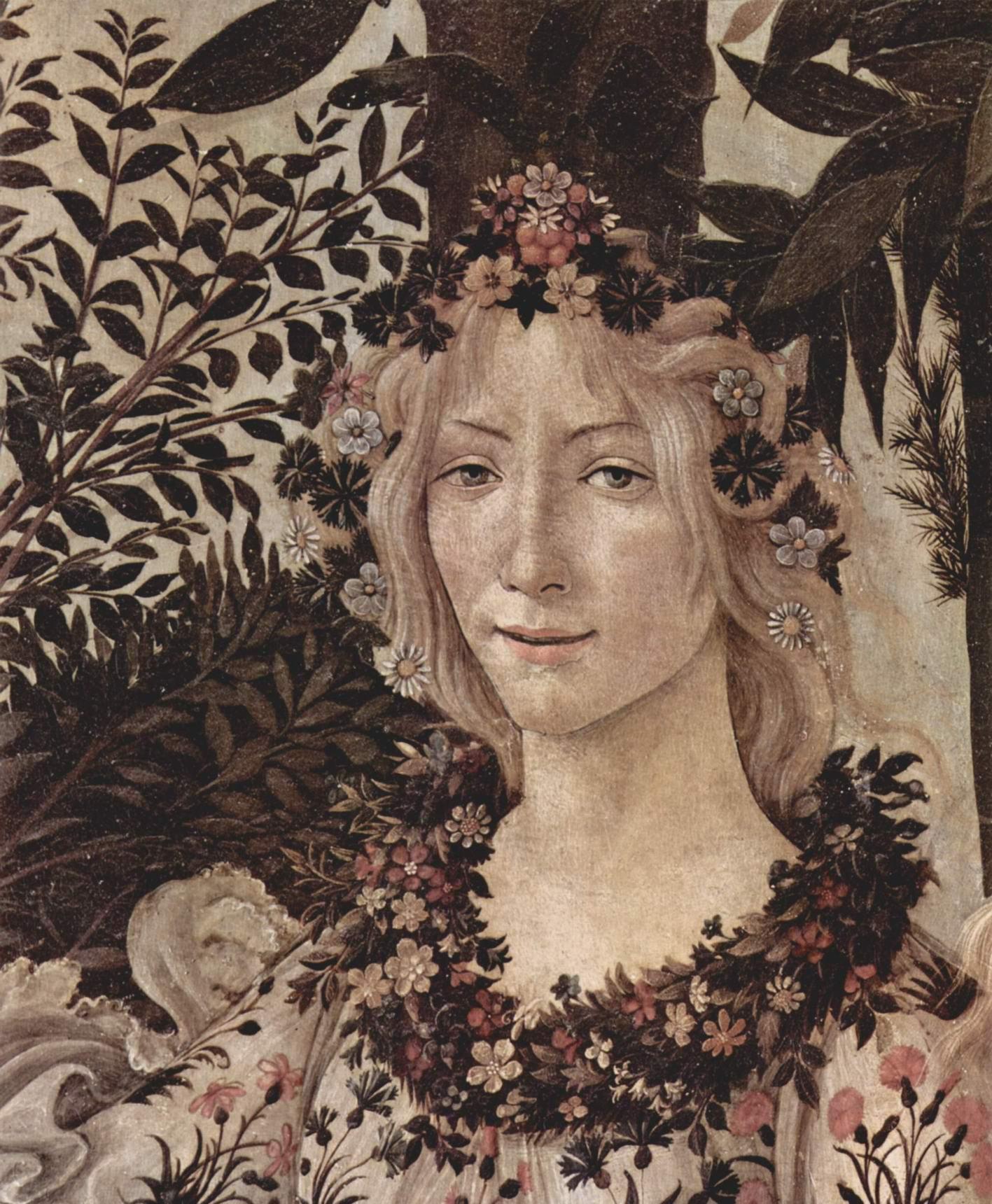 Весна (Primavera). Деталь  Флора, Сандро Боттичелли