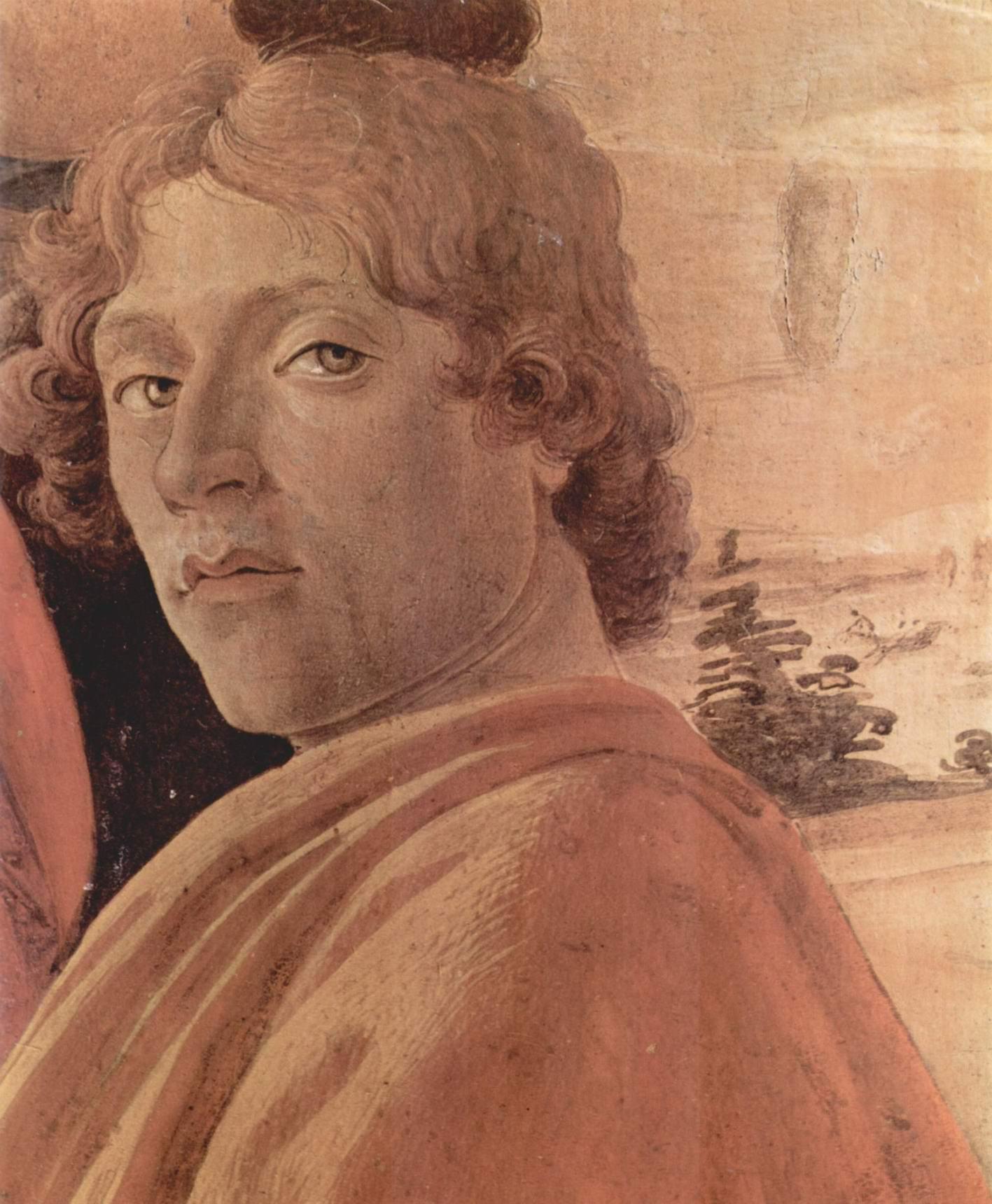 Автопортрет, фрагмент алтарной композиции, Сандро Боттичелли