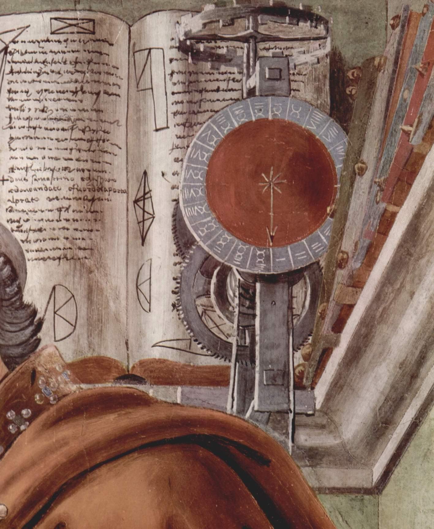 Св. Августин в молитвенном созерцании. Деталь, Сандро Боттичелли