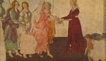 Фрески виллы Лемми под Флоренцией, Джованна Альбицци с Венерой и грациями, фрагмент