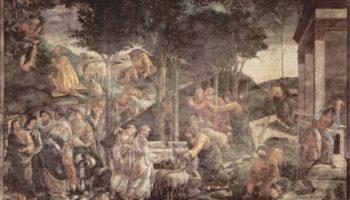 Фрески Сикстинской капеллы в Риме, Юность Моисея