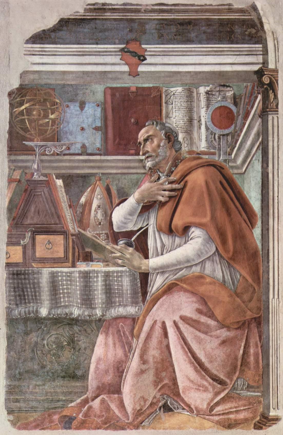Св. Августин в молитвенном созерцании, Сандро Боттичелли