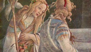 Фрески Сикстинской капеллы в Риме  Юность Моисея, фрагмент
