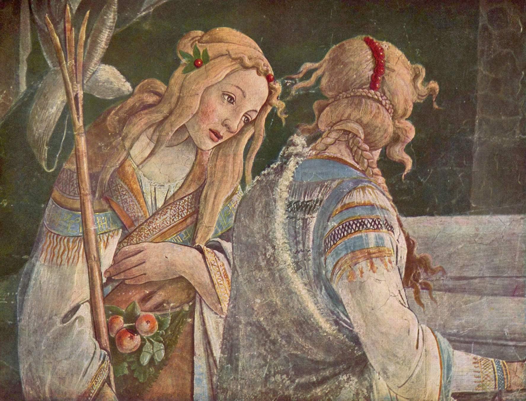 Фрески Сикстинской капеллы в Риме  Юность Моисея, фрагмент, Сандро Боттичелли