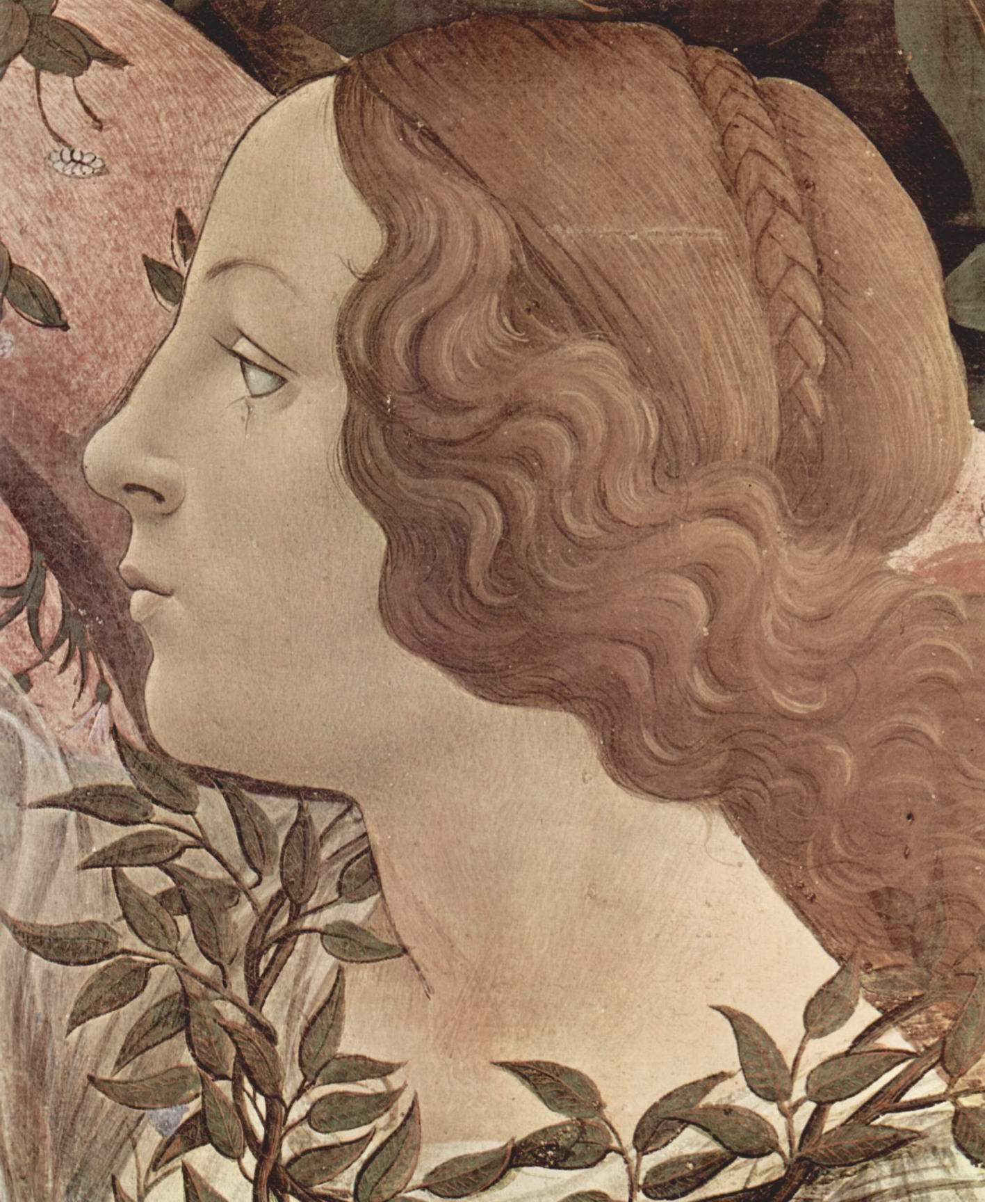 Рождение Венеры. Деталь, Сандро Боттичелли