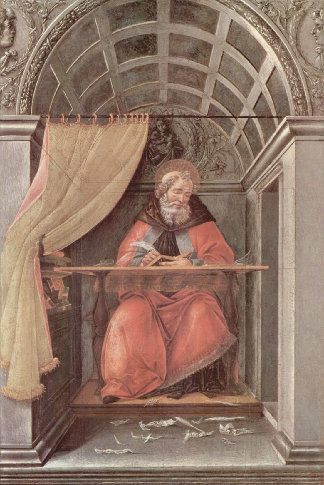 Св. Августин в своей келье, Сандро Боттичелли