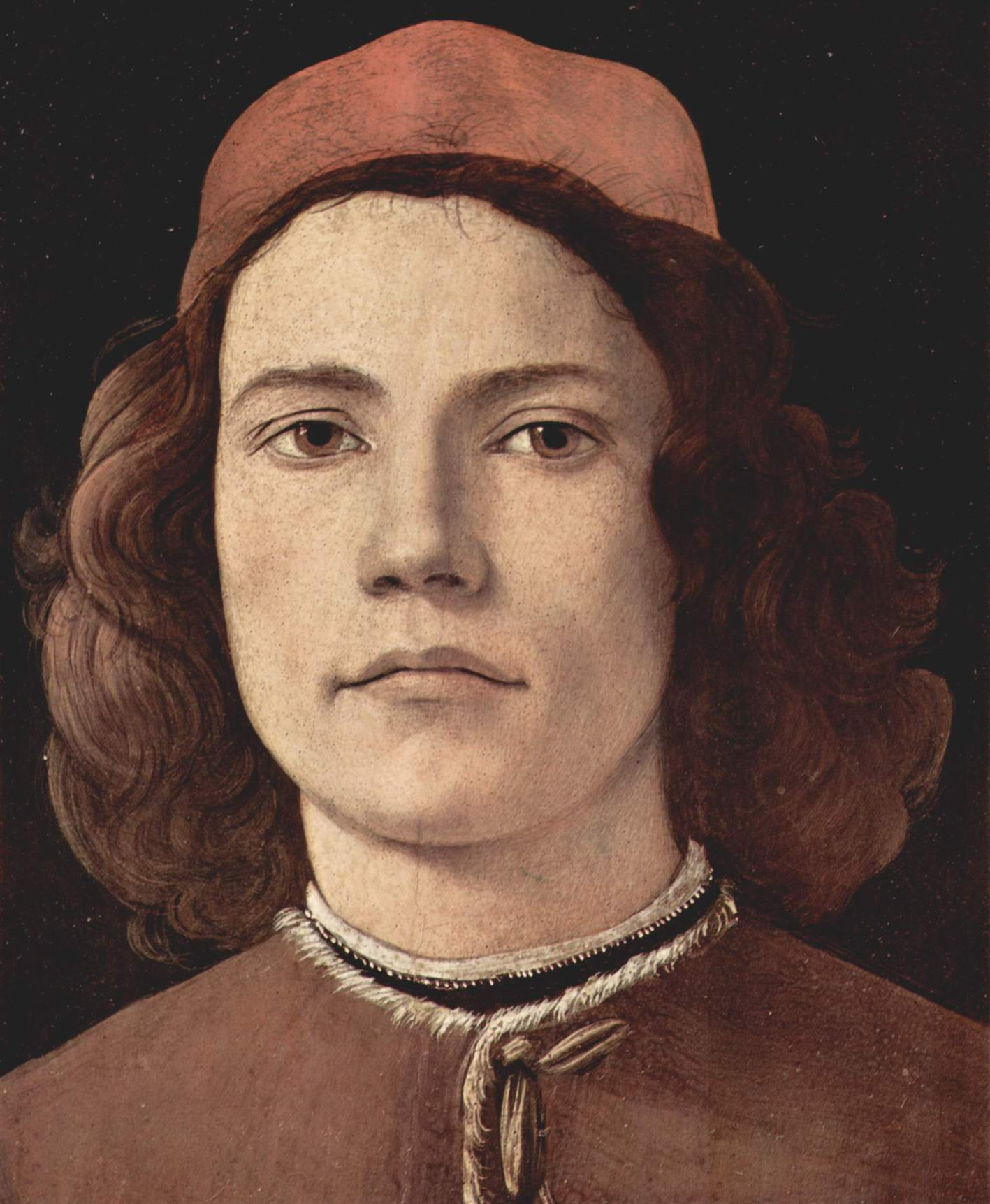 Портрет молодого человека, фрагмент, Сандро Боттичелли