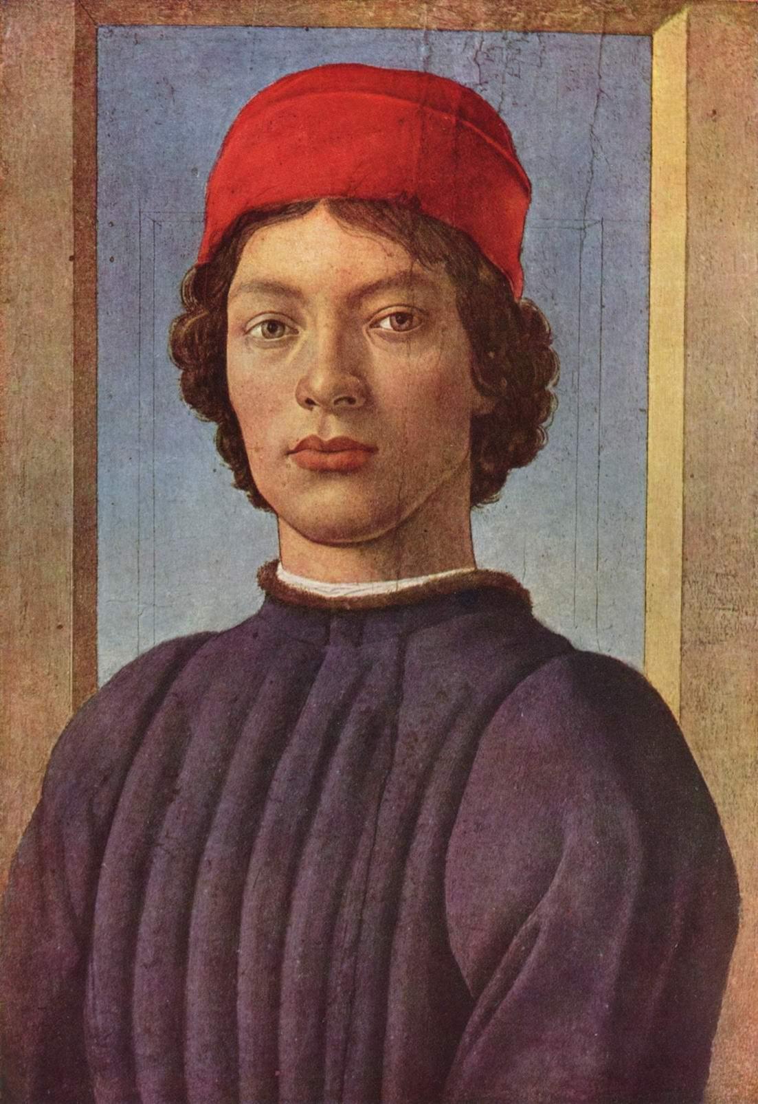 Портрет молодого человека в красной шапке, Сандро Боттичелли