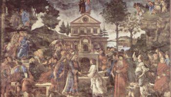 Фрески Сикстинской капеллы в Риме, Искушение Христа