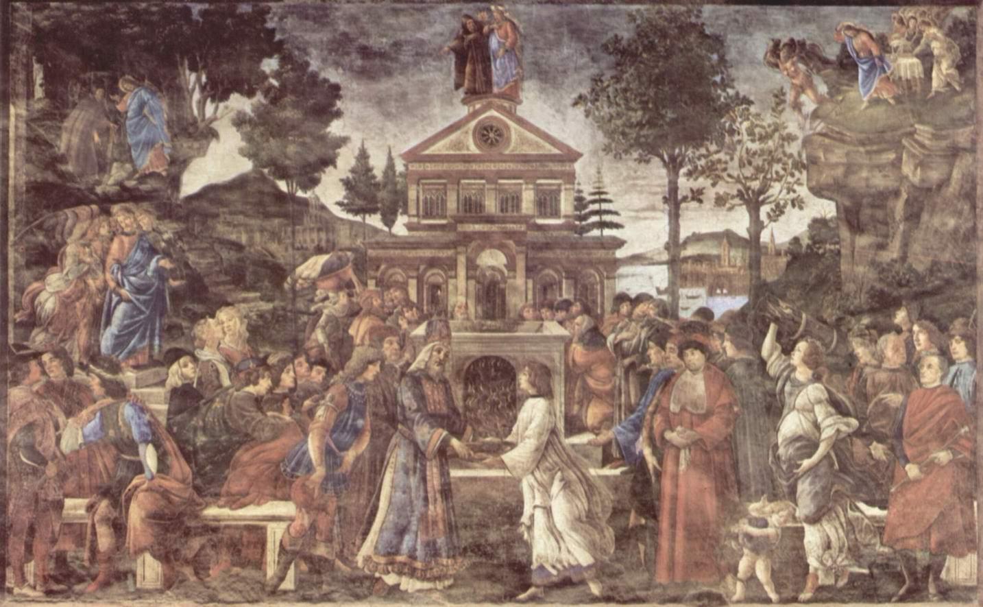Фрески Сикстинской капеллы в Риме, Искушение Христа, Сандро Боттичелли