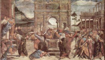 Фрески Сикстинской капеллы в Риме, Наказание левитов