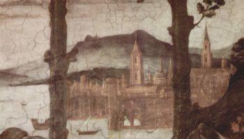 Фрески Сикстинской капеллы в Риме, Искушение Христа. Деталь
