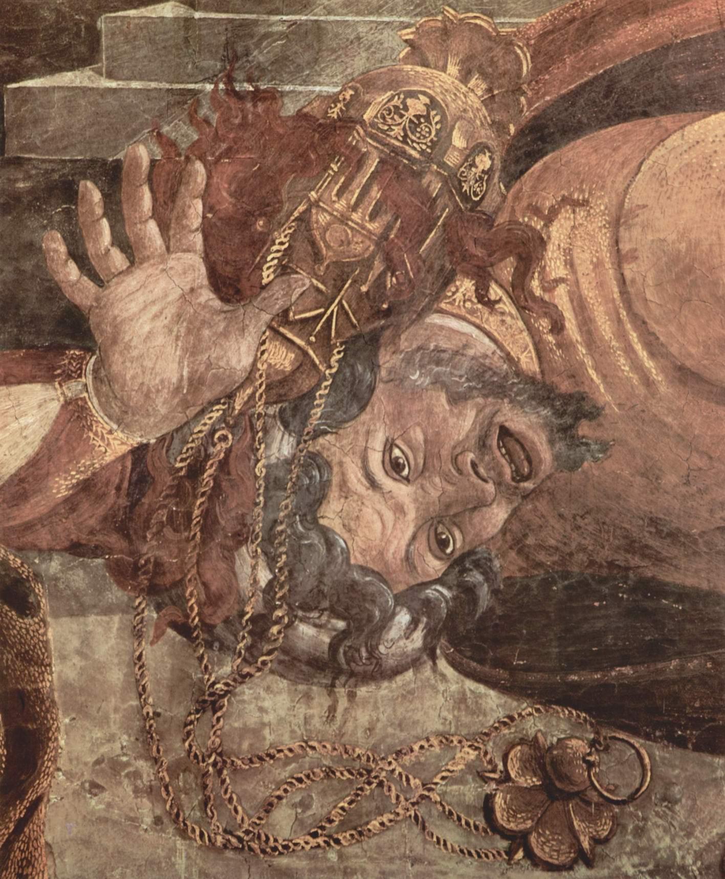 Фрески Сикстинской капеллы в Риме, Наказание левитов. Деталь, Сандро Боттичелли