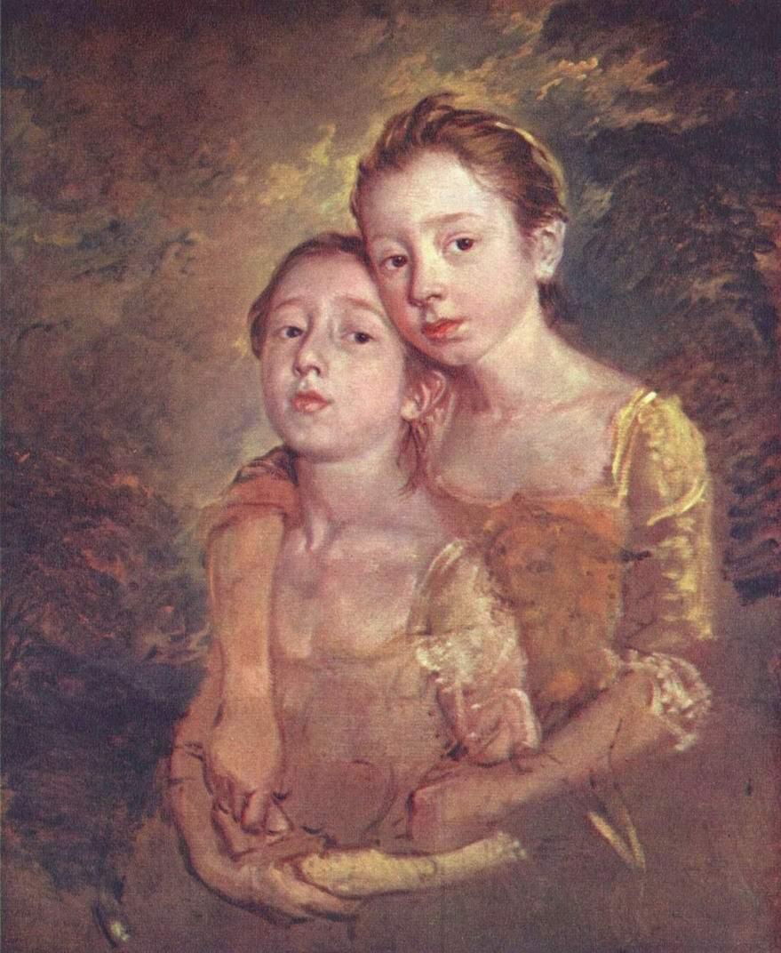 Портрет дочерей художника с кошкой, Томас Гейнсборо