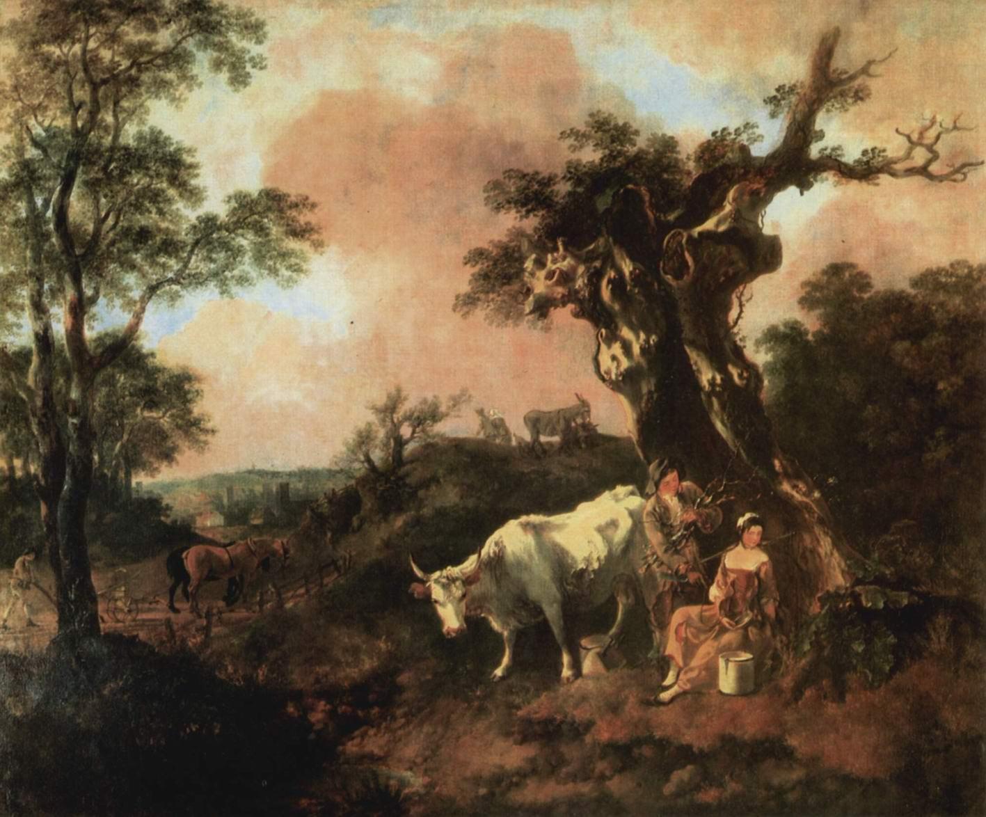 Лесоруб, флиртующий с пастушкой, Томас Гейнсборо