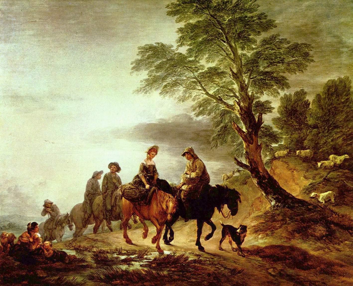 Поездка на рынок, Томас Гейнсборо