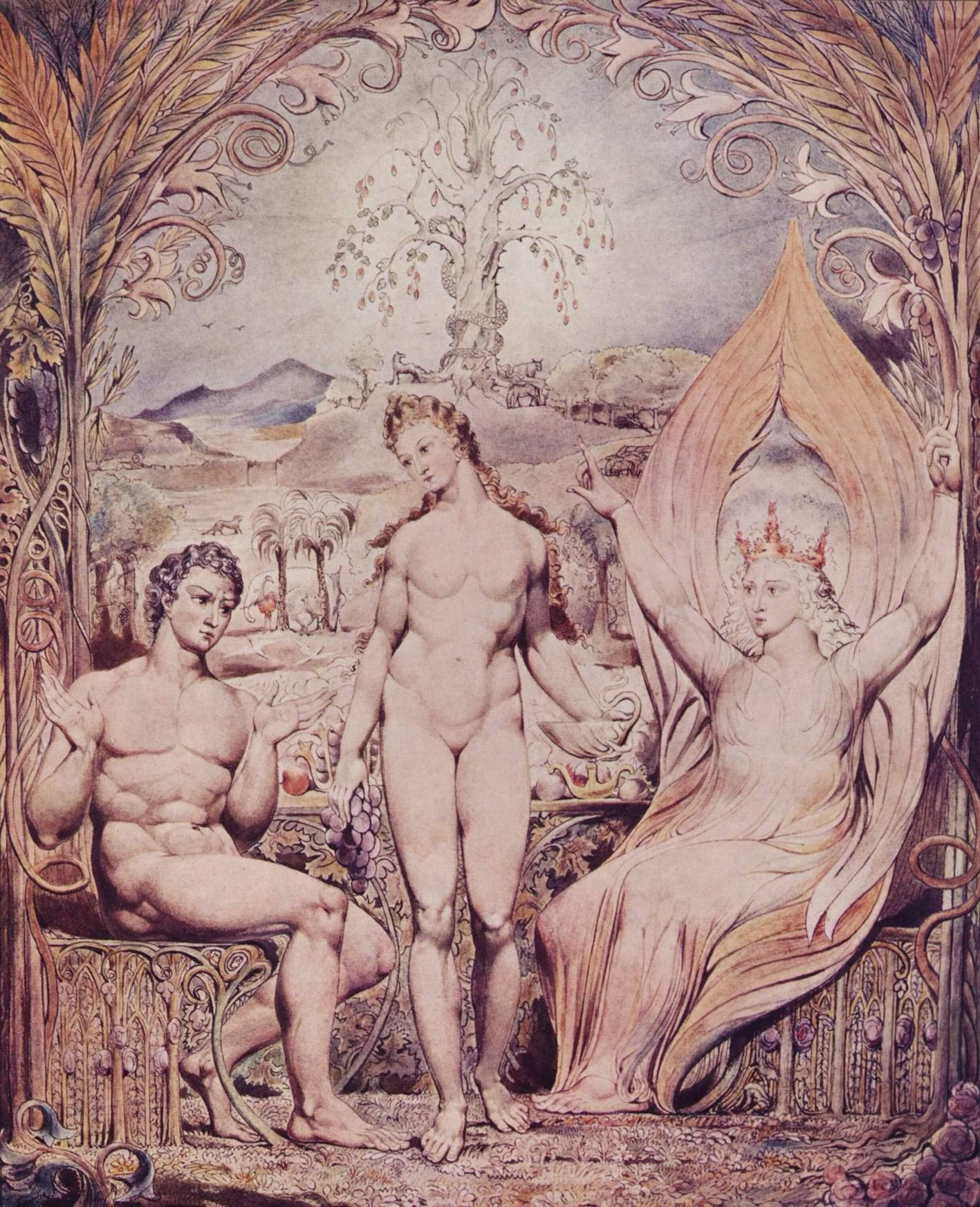 Архангел Рафаил с Адамом и Евой, Уильям Блейк