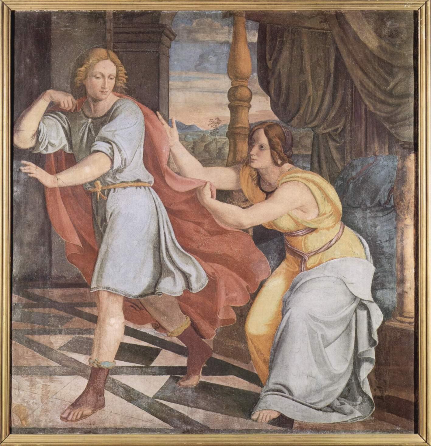 Цикл фресок в Каза Бартольди (Рим). Иосиф и жена Потифара, Филипп Вайт