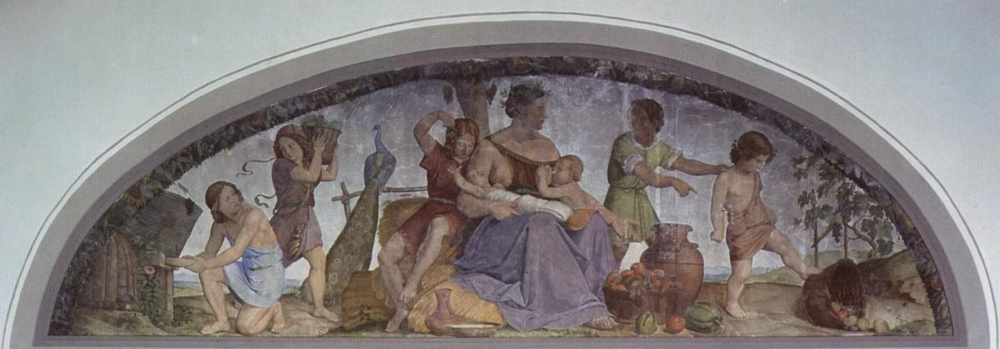 Цикл фресок в Каза Бартольди (Рим). Семь тучных лет, Филипп Вайт