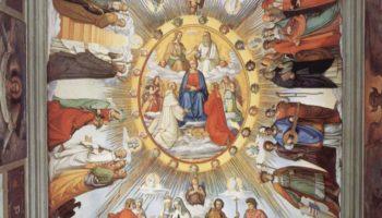 Цикл фресок в Казино Массимо (Рим), Дантевский зал. Эмпирей и восемь небес Рая