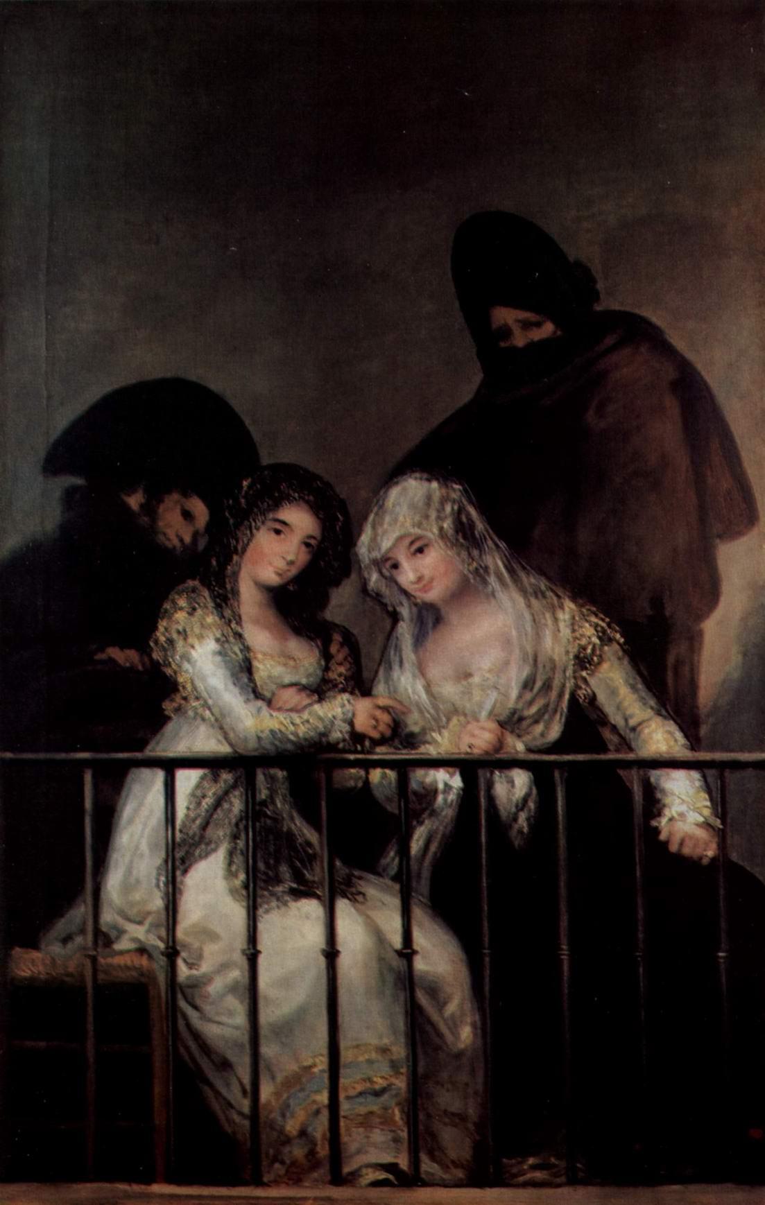 Махи на балконе, Франсиско де Гойя-и-Лусьентес