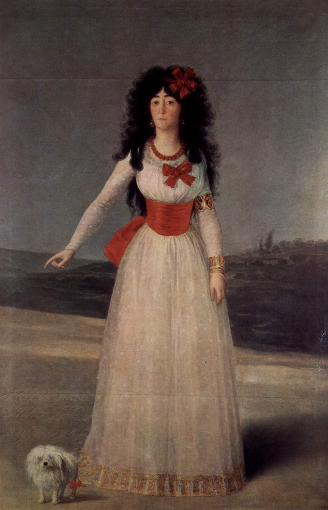 Портрет Марии Терезы Кайетана де Сильва, герцогини Альба, Франсиско де Гойя-и-Лусьентес