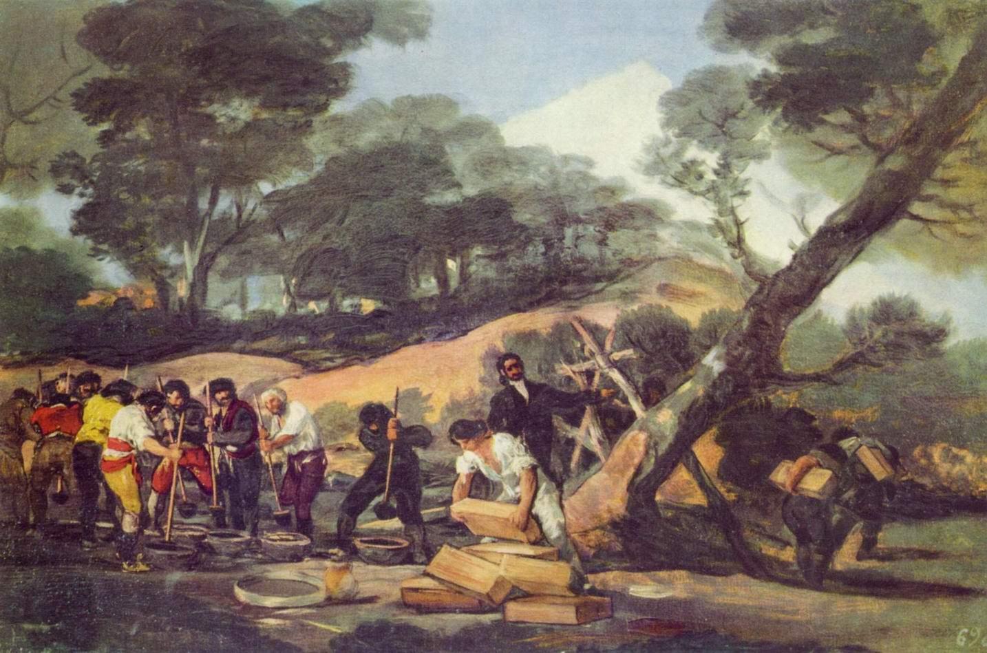 Изготовление пороха в Сьерра де Тардьента, Франсиско де Гойя-и-Лусьентес