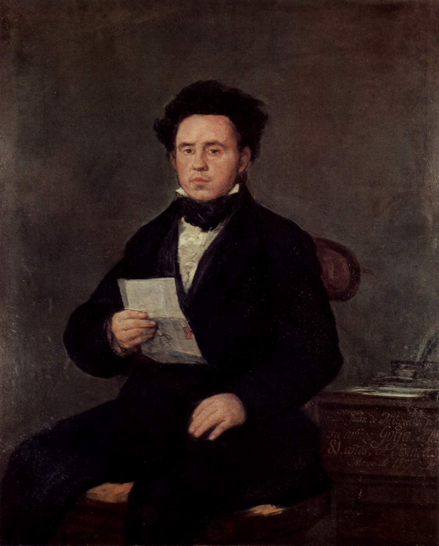 Портрет Хуана Баутисты де Мугиро, Франсиско де Гойя-и-Лусьентес