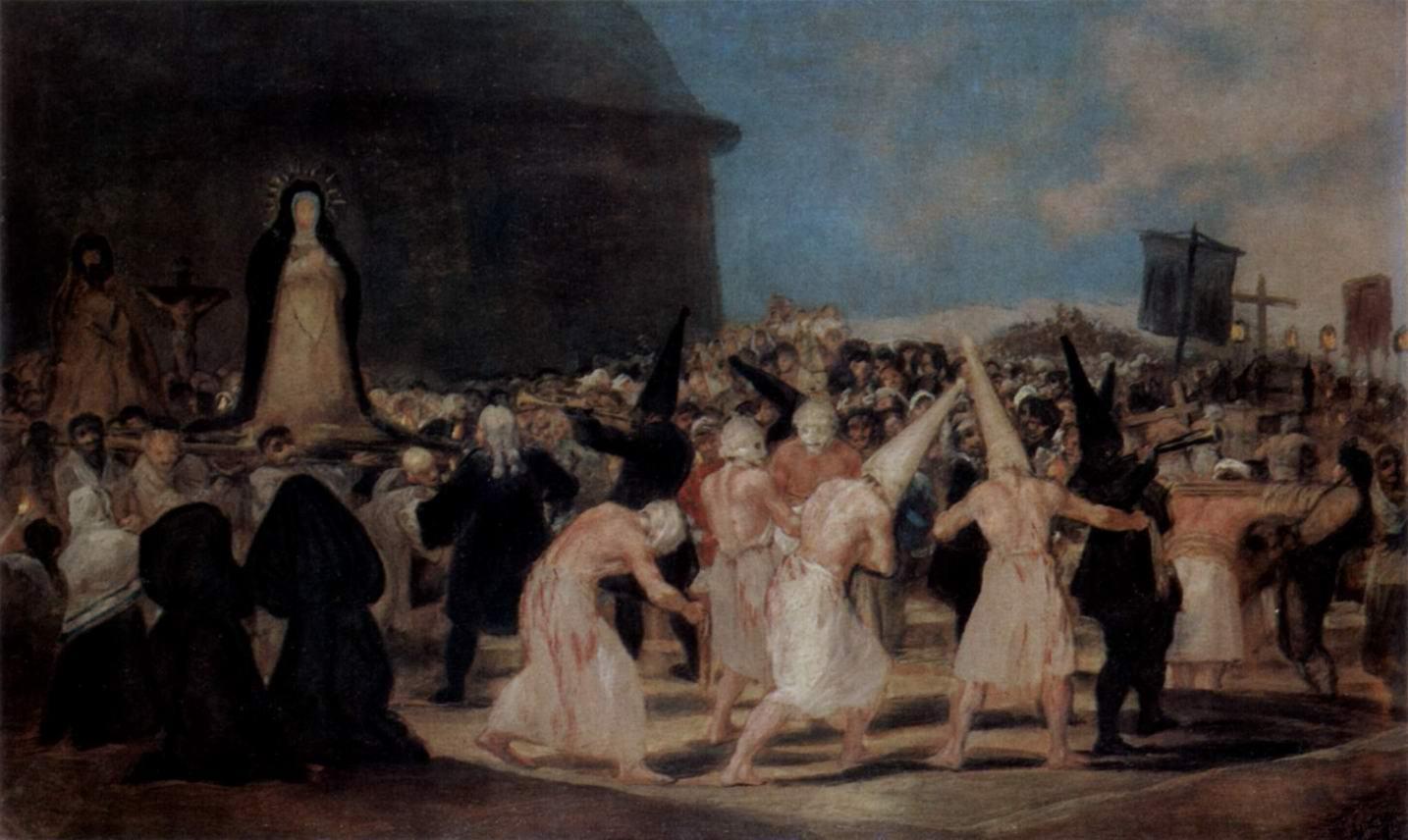 Процессия флагеллантов (бичующихся), Франсиско де Гойя-и-Лусьентес