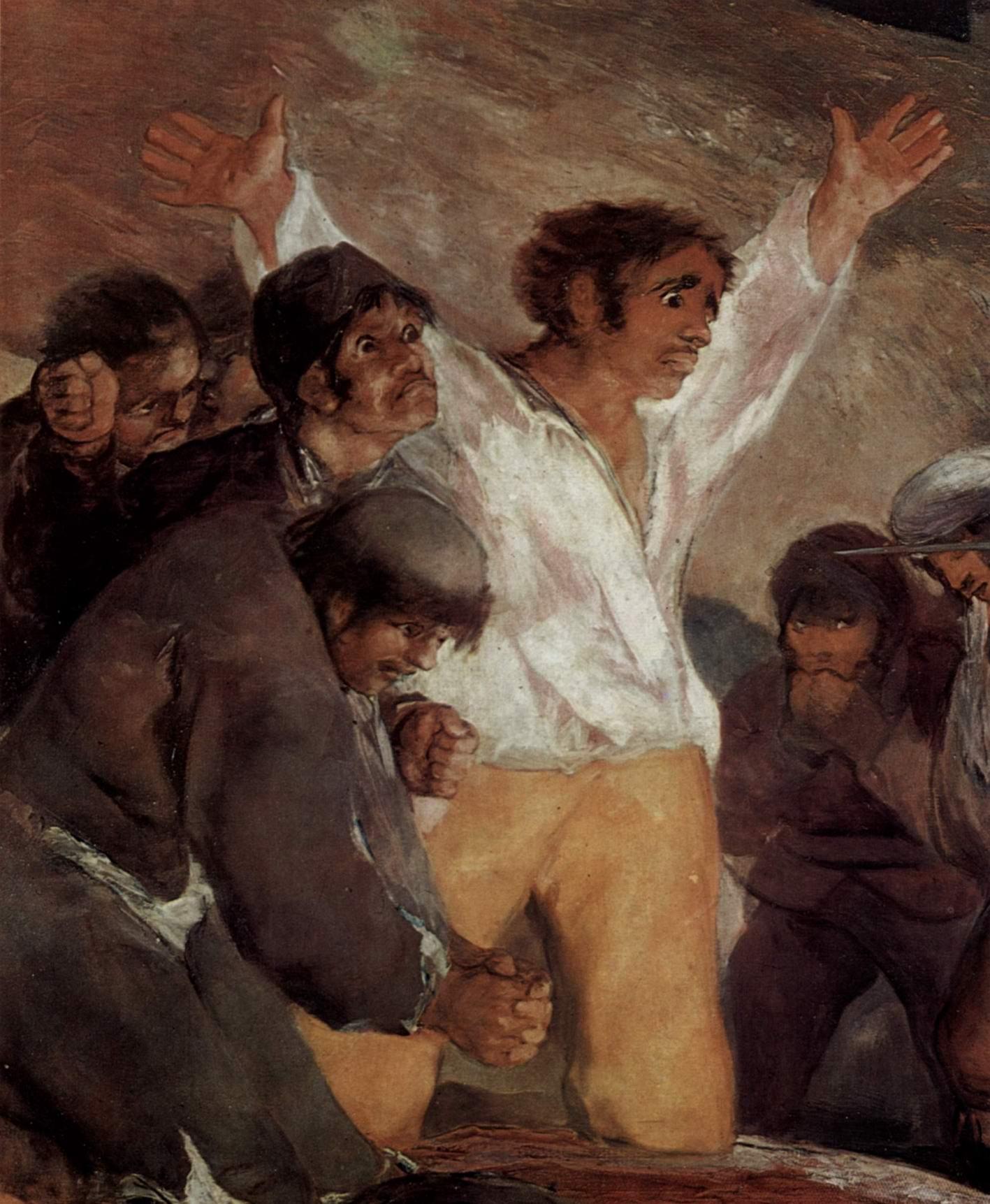 Расстрел повстанцев 3 мая 1808 года в Мадриде. Фрагмент, Франсиско де Гойя-и-Лусьентес